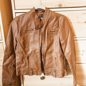 NWOT Wet Seal Faux-Leather Jacket